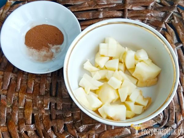 корица и яблоки