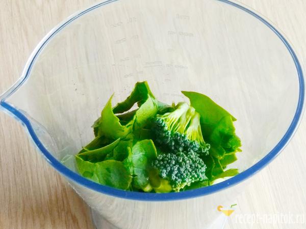 смузи из шпината, брокколи и огурца