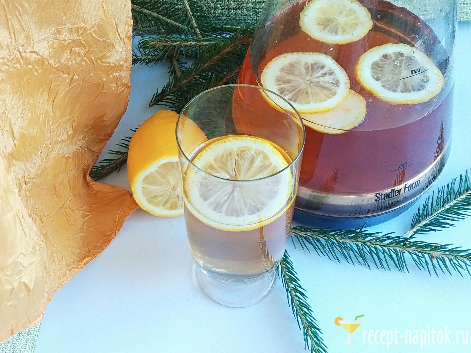 Хвойный напиток с лимоном