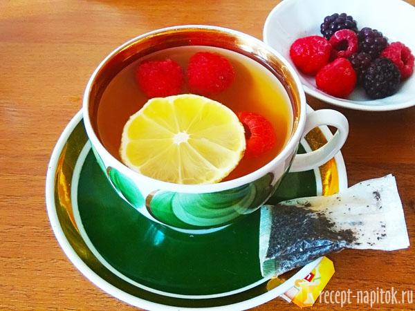 чай с липой и лимоном