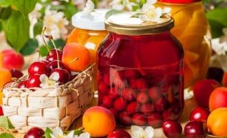 срок хранения компота из фруктов и ягод