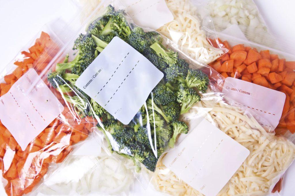 овощи в пакетах для заморозки