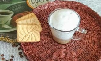 кофе латте с пенкой